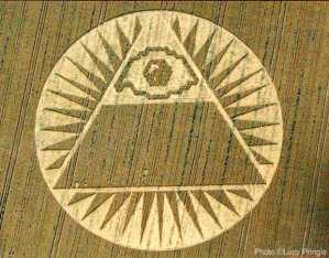 stargate shape in a crop circle