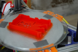 Top, red PLA
